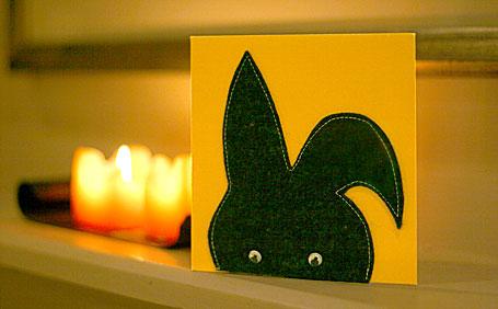 Felt Easter Bunny gift card by 0049 Design