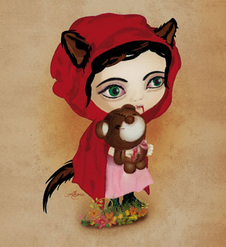 Red Riding Hood by Akina (Sydney artist Lang Leav)