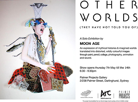 Other Worlds exhibition by Sydney artist Alex Moon-Age