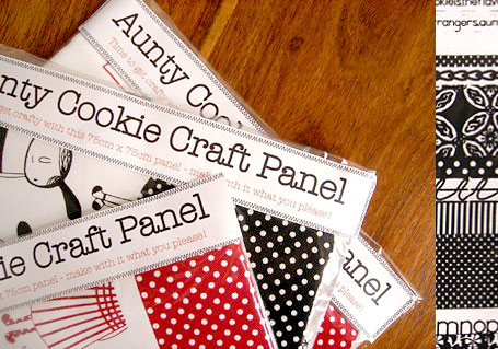 Aunty Cookie Limited Edition Craft Panel in Black, Cherry or Blue Colourway