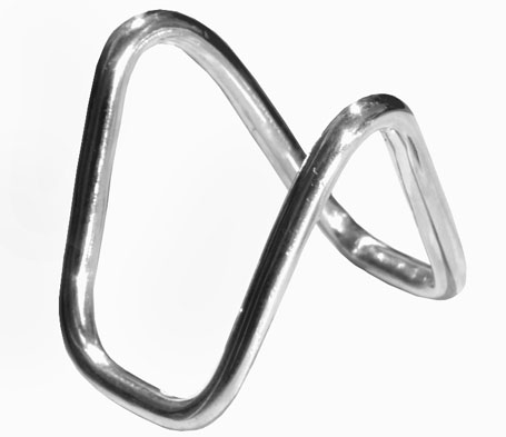 Insanity contemporary unisex silver ring / pendant by Sydney jewellery designer Bilingual