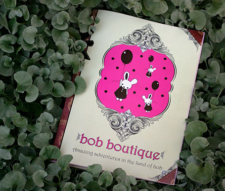 The new Bob Boutique catalogue front cover - Amazing adventures in the land of bob