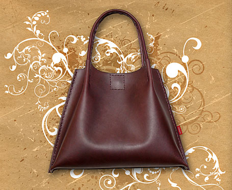 Flippod Leather Handbag by Chenny K