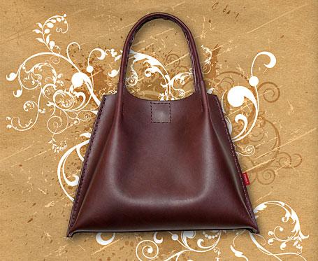 Flippod Leather Handbag by Chenny K