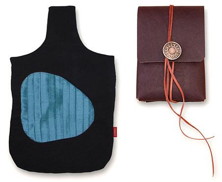 Window Wrist 01 Silk & Fabric Handbag and Leather Camera Bag by Chenny K