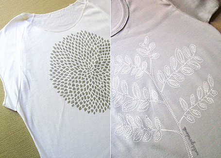 Radiate and Floss women's t-shirts by Wildgarden