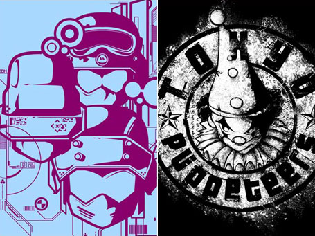 Soldiers V2 and Tokyo Puppeteers t-shirts by Pocket