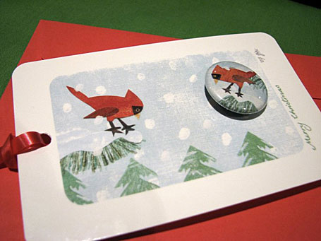 Wren Gift Tag by Dudley Redhead