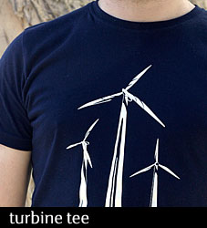Wind Turbine mens t-shirt from Non-Fiction