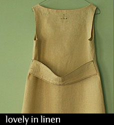 Knee Length Linen Dress in Wheat from PAMELATANG