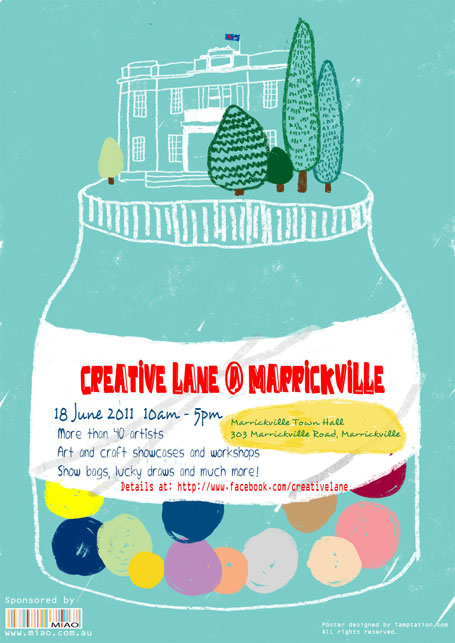 Creative Lane, Marrickville Town Hall flyer