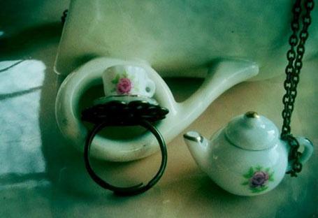 Tea Pot Necklace by Erin Dove