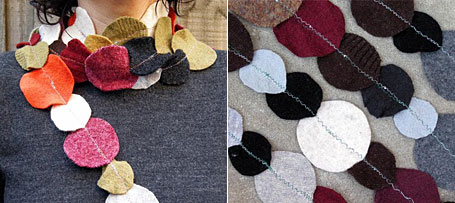 Recycled Wool Necklace Scarves by Gaye Abandon