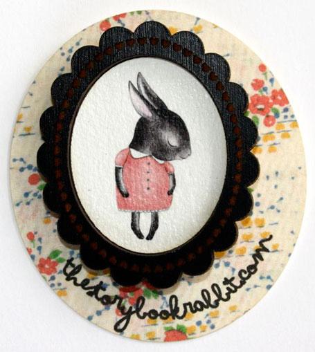 Shy Bunny Brooch from Georgie Love