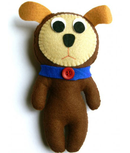 Fido Long Lost Lovesick Puppy softie by Daniela Catalano available from www.georgielove.com