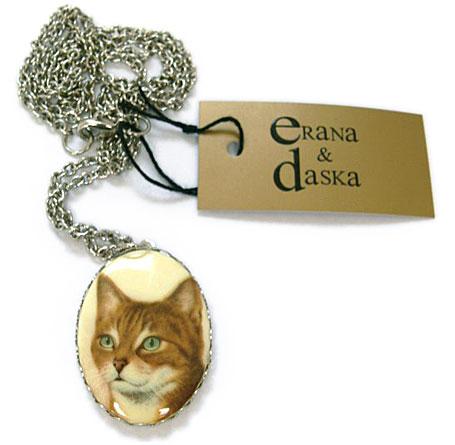 Green Eyes Cat Pendant by Erana & Daska available from www.georgielove.com