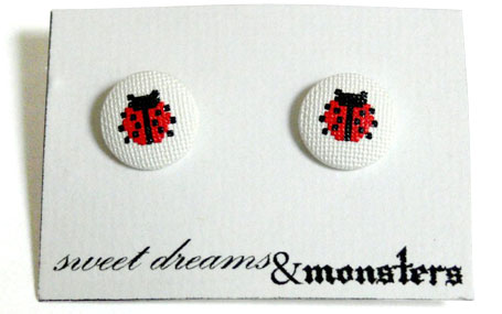 Lady Stitch Studs by Sweet Dreams & Monsters, available from www.georgielove.com