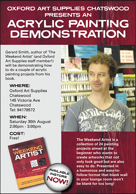 Flyer for The Weekend Artist demo by Gerard Smith