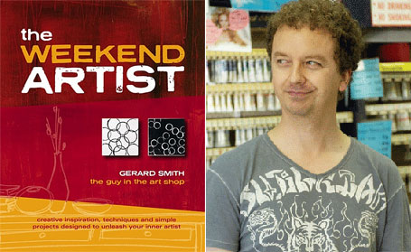 The Weekend Artist book cover & photograph of Gerard Smith