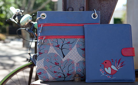 Melbourne Bag and iPad Lover in Wishing Tree by b.sirius, photo by Carolyn Price