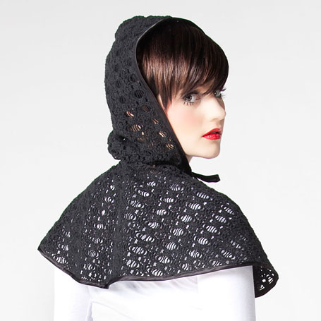 Crochet cape in black by Grazed Youth