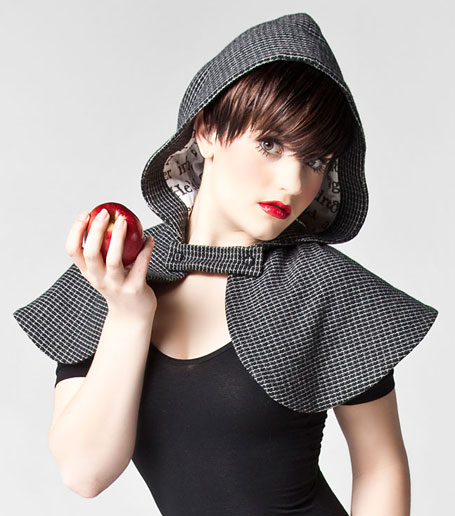 Grey Check Cape by Grazed Youth