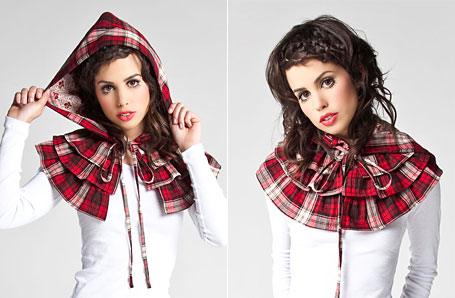 Tartan Ruffle Cape by Grazed Youth
