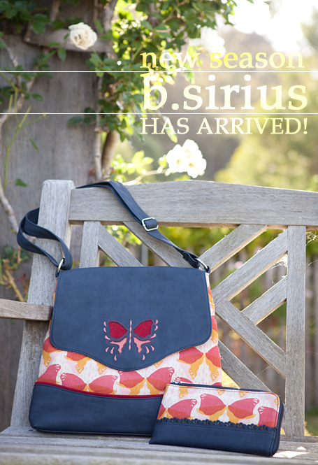 b.sirius Butterfly Tote and Butterfly Zip Up Wallet