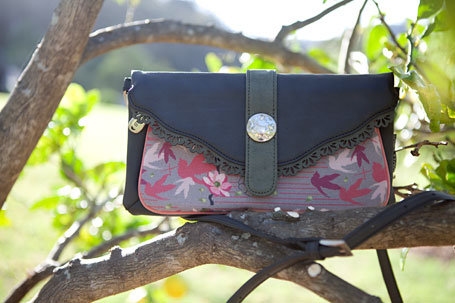 b.sirius Magnolia Button Clutch