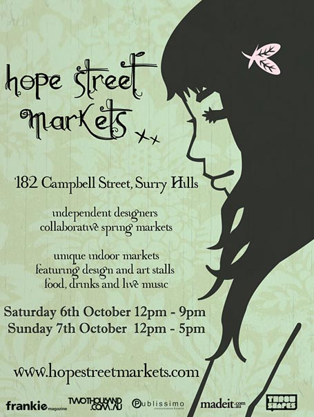Hope Street Markets Spring 2007 Flyer