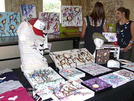 Imok stall featuring original artworks at Hope Street Markets Spring 2007