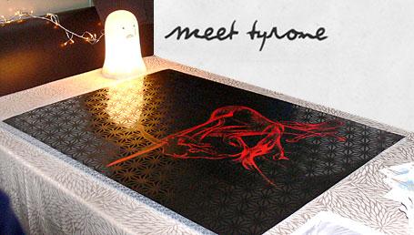 Meet Tyrone original artwork at Hope Street Markets Spring 2007