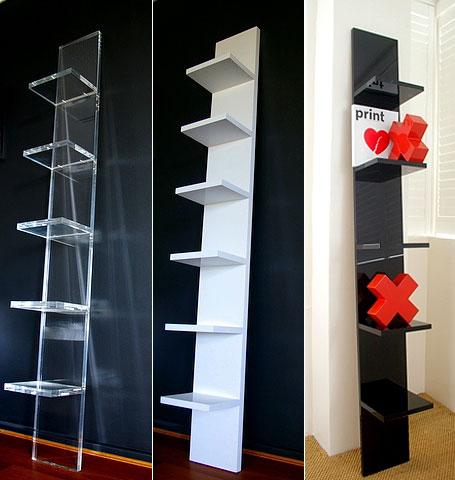 Hudo acrylic Leaning Wall Shelf
