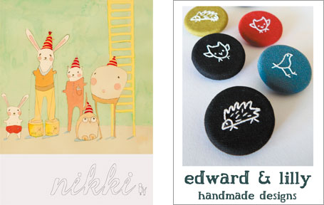 Nikki Catalano and edward & lilly - two of the Australian indie labels participating in the Indie Avalanche of Prizes, a joint project by indie art & design and The Finders Keepers.