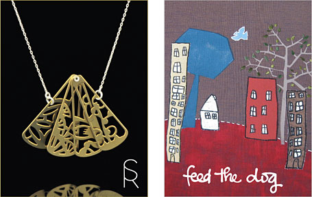Sarah Rothe and feedthedog - two of the Australian indie labels participating in the Indie Avalanche of Prizes, a joint project by indie art & design and The Finders Keepers.
