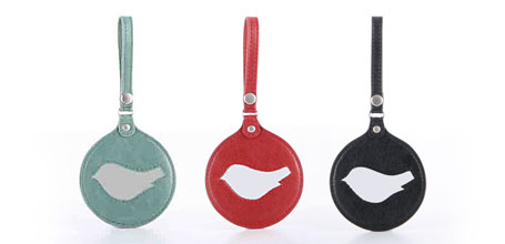 New birdie luggage tags from b.sirius available at indie art & design