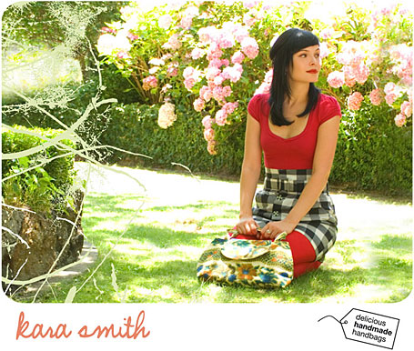 Kara Smith web store screenshot - delicious handmade handbags