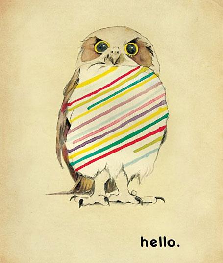 Hello Owl by Kareena Zerefos