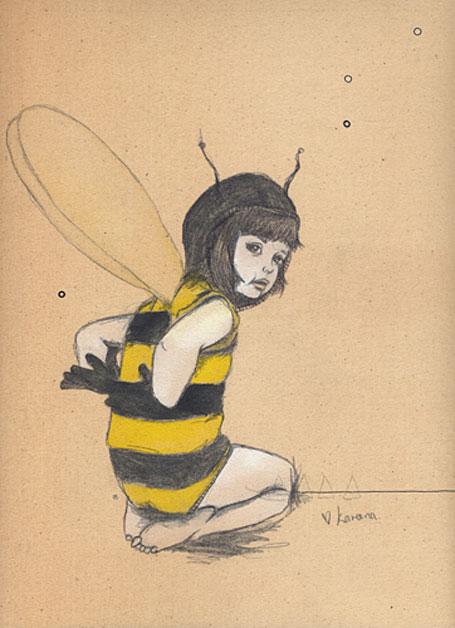 Jeremyville Sketchel Bumblebee Girl by Kareena Zerefos