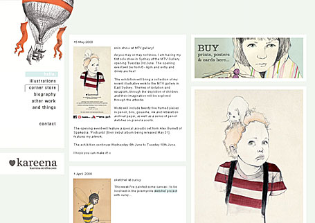 Kareena Zerefos web site screenshot
