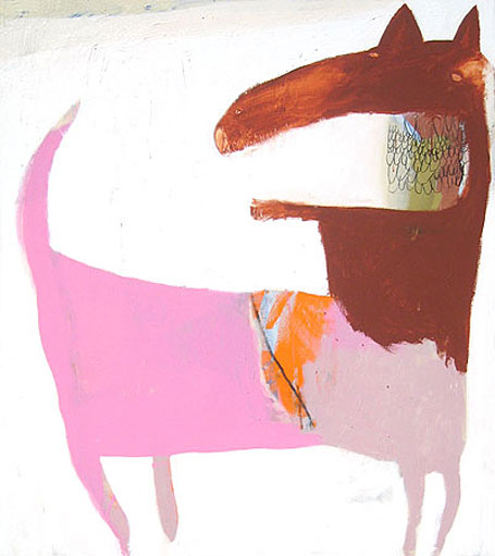 Pink Wolf by Australian contemporary artist Karlee Rawkins