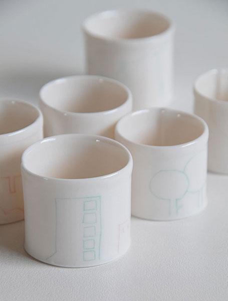 Tiny Vessels by Brisbane-based ceramicist Kenji Uranishi - at the Little Uns ceramics exhibition at Pomme, Mornington, Victoria.