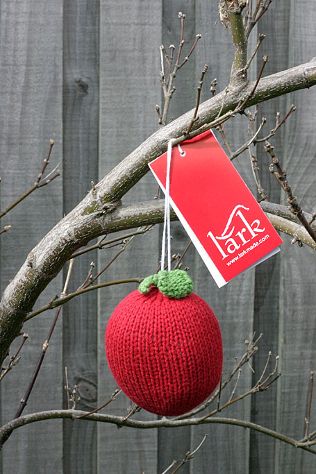 Apple Hand-Knitted Fruit Rattle by Lark