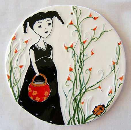 Collecting 14.5cm Ceramic Disk by Linogirl