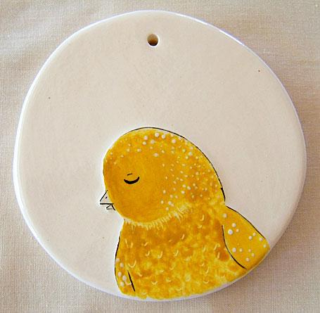 Sebastian 8cm Ceramic Disk by Linogirl