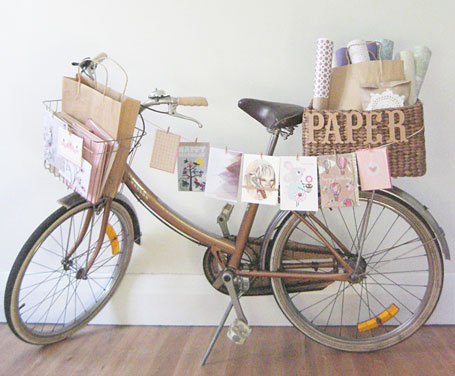 Paper goods on display at Little Papercup, Newcastle.