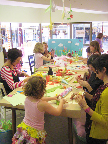 Craft afternoon at Little Papercup, Newcastle.