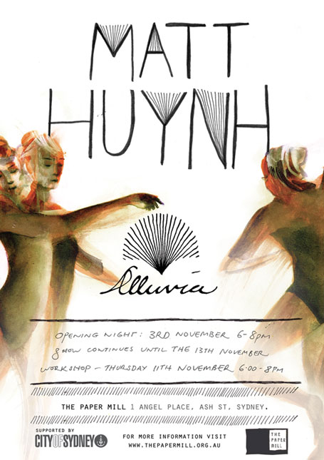 Invitation to Matt Huynh's Alluvia exhibition