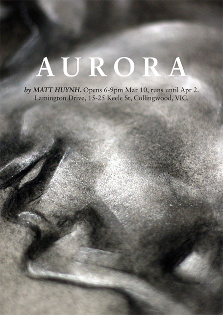Invitation to Matt Huynh's Aurora exhibition