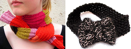 Knitted scarf and headband by Me and Tex